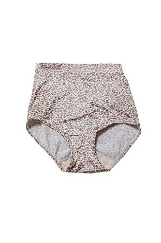 Vanity Fair Body Caress Brief Panty (Vanity Fair Beige Leopard Smoothing Comfort Body Caress Brief -XL)