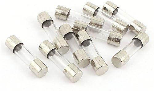 Juego de 10 fusibles de vidrio 2cm 20mm 5mm 5x20mm 220V 250V 0.250A 250mA AERZETIX