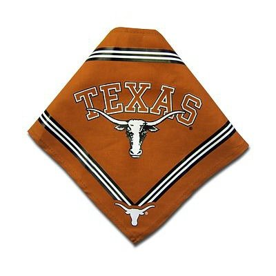 Collegiate Texas Longhorns Pet Bandana, Small - Dog Bandana must-have for Birthdays, Parties, Sports Games etc..