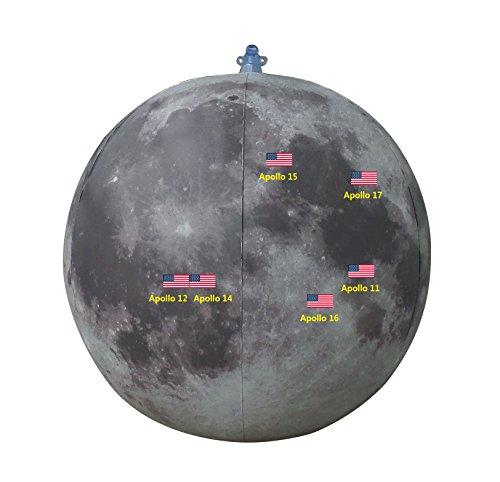 BottleClocks Inflatable Moon Apollo Landing Sites, 50th ()