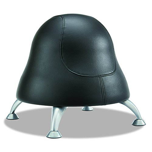 (Safco Products Runtz Ball Chair 4756BV, Black Easy-to-Clean Vinyl, Anti-Burst Exercise Ball, Active)