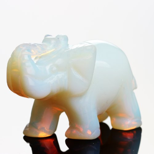ywg-stone-opal-opalite-elephant-15-inches-statue-crafts-natural-stone-carved-figurine-chakra-carving