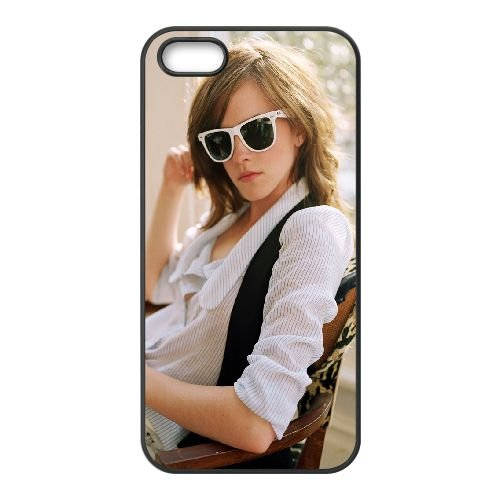 Emma Watson Sunglasses coque iPhone 4 4S cellulaire cas coque de téléphone cas téléphone cellulaire noir couvercle EEEXLKNBC24903