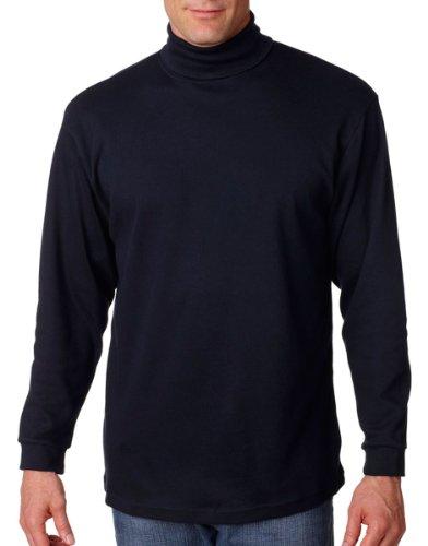 Turtleneck Interlock Mens Cotton (UltraClub Men's Adult Egyptian Interlock Long-Sleeve Turtleneck - XXX-Large- Navy)