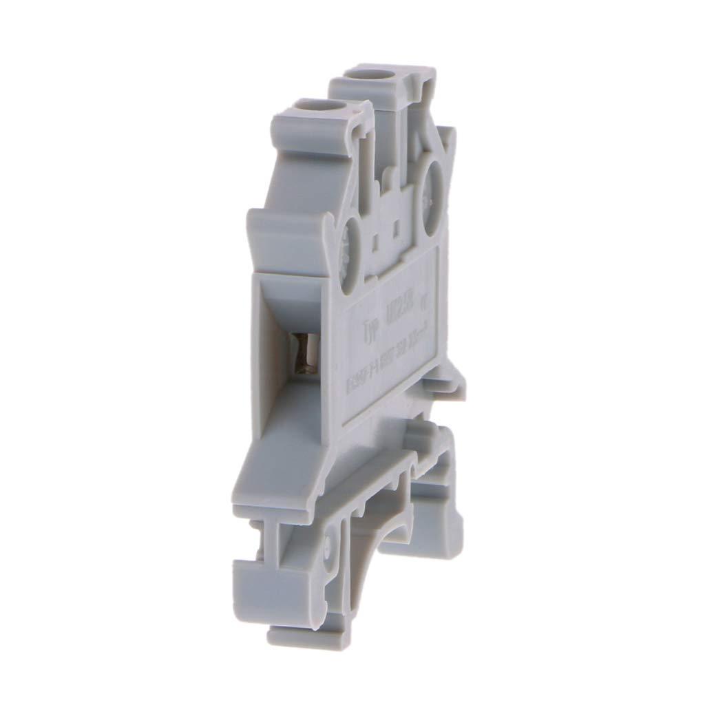LANDUM 50PCS UK-2.5B Borniers universels sur Rail DIN connecteur /à vis