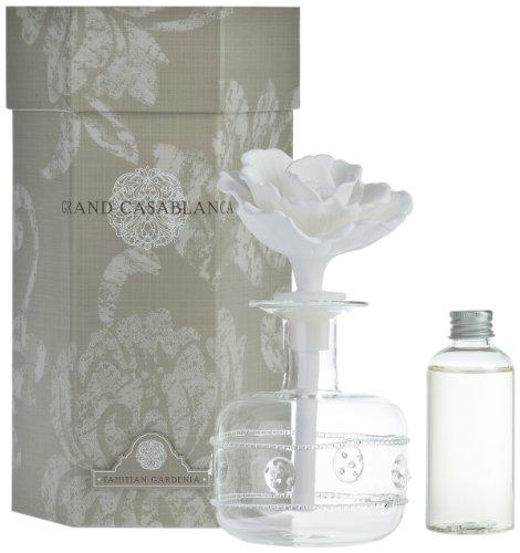 Zodax Grand Casablanca Porcelain Diffuser, Tahitian Gardenia Scent ()