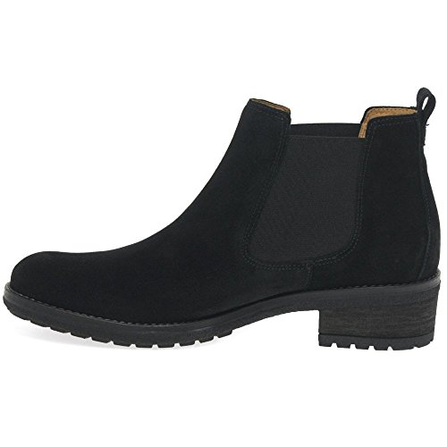 Gabor Brilliant Womens Suede Chelsea Ankle Boots Black Suede mPEsdF