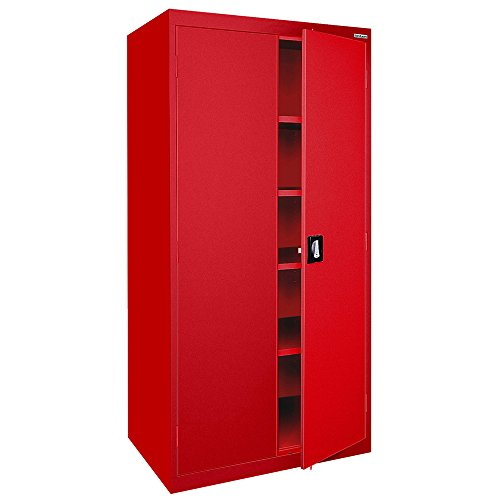 (Sandusky Lee EA4R362478-01 Welded Steel Elite Storage Cabinet with Adjustable Shelves, 24