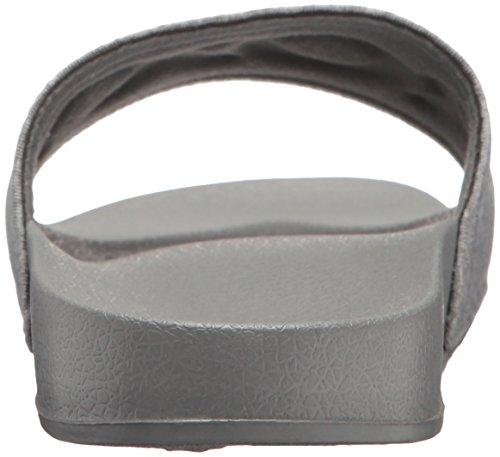 Roxy Damen Slippy Textil Slide Sport Sandale Grau