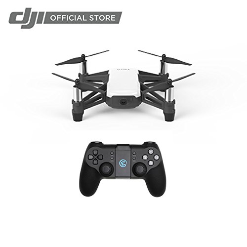 Tello Quadcopter Drone with HD Camera and VR,Powered by DJI Technology and Intel Processor,Coding Education,DIY Accessories,Throw and Fly (with Controller) (The Best Budget Drone)