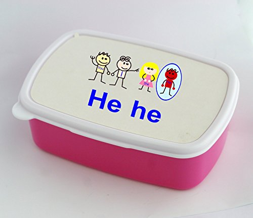 Lunch Box With Pronoun He She I You They Flashcard