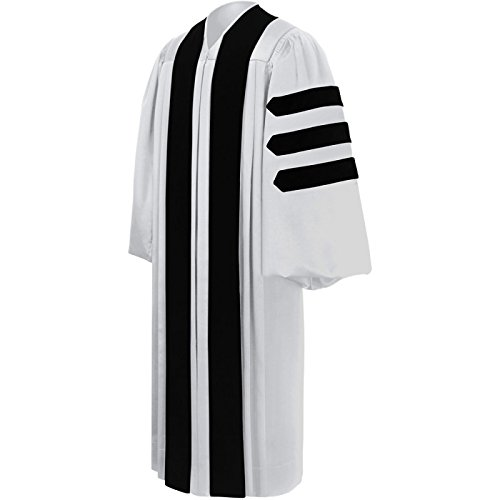 White Pastor / Clergy Robe – Deluxe Fluted Fabric Clergy Robes For Pastor 57 (Pulpit Robe)