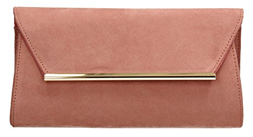 Sabrina Rose Clutch Sac Look Suede Party Swankyswans Prom Bag R8dqwHCRx