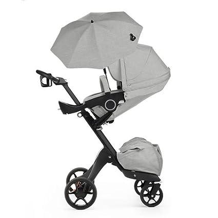 Stokke Xplory V5 negro carrito de bebé, color gris melange libre taza soporte/sombrilla