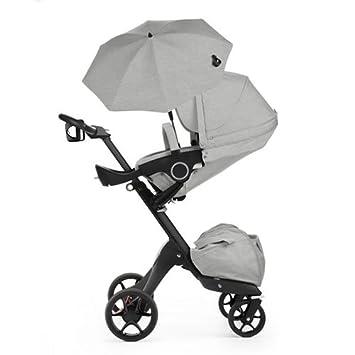 Stokke Xplory V5 negro carrito de bebé, color gris melange libre taza soporte/sombrilla: Amazon.es: Bebé