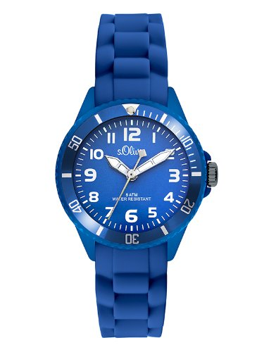 S.Oliver Boys' Analogue Quartz Watch with Silicone Strap – SO-2757-PQ