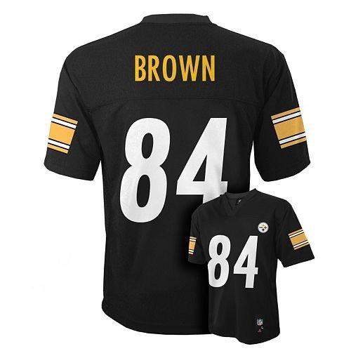 Antonio Brown Pittsburgh Steelers Black NFL Kids 2016-17 Season Mid-tier Jersey (Kids 4)