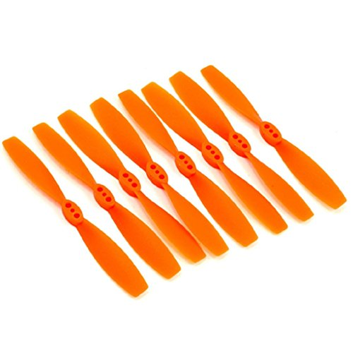 DYS 12 Pairs Propellers 3020 Props CW CCW for 130 Quadcopter Frame 130 RC Drone Frame 1104 Motor (Orange)