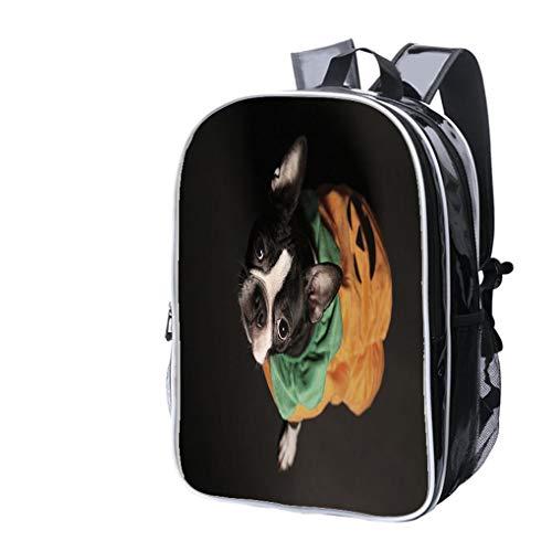 High-end Custom Laptop Backpack-Leisure Travel Backpack Boston Terrier Water Resistant-Anti Theft - Durable -Ultralight- -