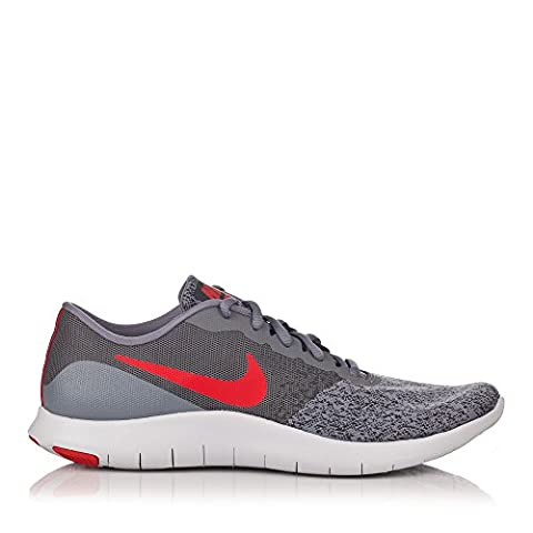 Men's Nike Flex Contact Running Shoe Cool Grey/University Red-Anthracite 9.5 - Grey Sports Shoes