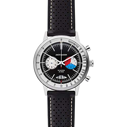 Jack Mason Racing Chronograph Watch 40mm | Black Leather