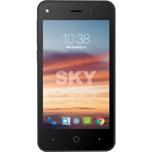 SKY Devices - Platinum 4.0, 3G Android Unlocked Smartphone, 5MP/2MP Cameras, 8GB Storage, 512MB RAM – (Grey)