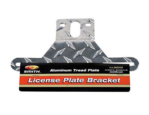 CE Smith Trailer 26053A Aluminum Tread License Plate Bracket, 9 3/8″ x 4 7/8″
