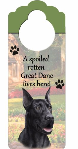 Great Dane, Black Wood Sign