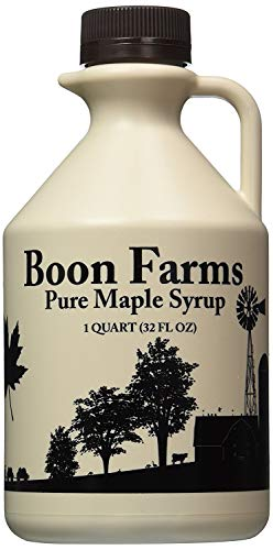 Boon Farms 100% Pure Maple Syrup, Grade A Dark (Formerly Grade B), 1 Quart - 32 Ounces (Maple Syrup 32 Oz)