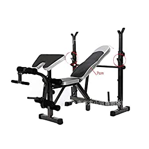 Vdaye Strength Training Adjustable Benches Set,Home Office Exercise Fitness Dumbbells Bench,Abdominal Training Workout Bench,Multi-Workout Whole Body Exercise Pushup Stands