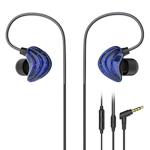 Orange Consumer Headphones (In Ear Earphones, UiiSii CM5 Sports Headphones with Mic and Remote, Comfortable Graphene Coaxial Design, and Stereo Bass Earbuds For Gym Running(Blue))
