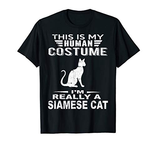 Super Halloween Costume Siamese Cat Tshirt Heart Kids Adults for $<!--$16.58-->