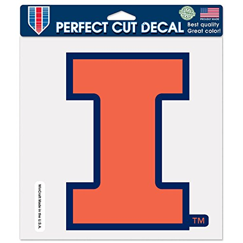 WinCraft NCAA University of Illinois 80300014 Perfect Cut Color Decal, 8
