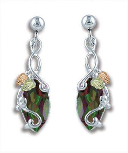 Landstroms Black Hills Silver Mystic Fire Topaz Earrings - ER968PDSS-471 by Landstroms Black Hills Gold