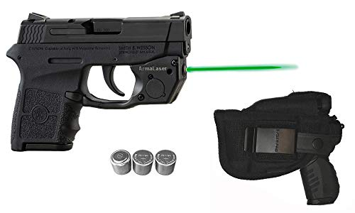 Laser Kit for S&W Smith-Wesson M&P Bodyguard 380 w/LASERPRO Holster Touch-Activated ArmaLaser TR24-G Green Laser Sight, Guns & 2 Extra Batteries (Smith And Wesson Bodyguard 380 Laser Battery Size)