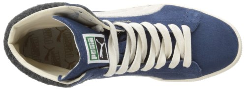 Fashion PUMA Mid City Wing Blue Suede Mens Teal Sneaker rvPqwxIvF