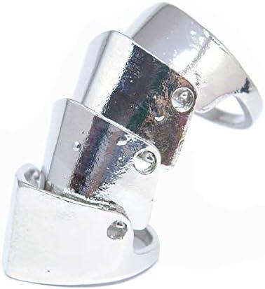 アーマーリング [1.シルバー]ジョイント 連結 指輪 RING 13号 メタル スタイリッシュ ユニセックス