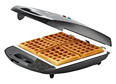 Easily make authentic Belgian waffles for the whole family with the Oster DuraCeramic Infusion Series Belgian Waffle Maker. Designed to cook up to four waffles at a time, this waffle iron is molded with a honeycomb pattern that leaves behind deep, cr...