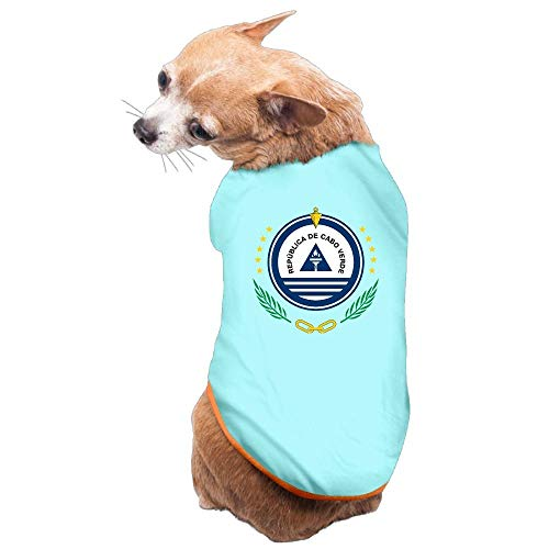 - SGBTJKU Coat of Arms of Cape Verde Cute Cute Clothing for Dogs,Summer Classic Vest Pet Costume Small Dog Cat Apparel Pet Shirt