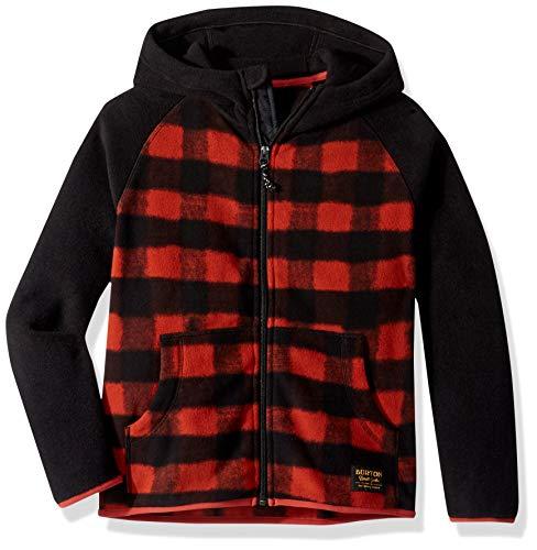 Burton Kids' Spark Full-Zip Fleece Hoodie, Spray Buffalo/True Black, Large