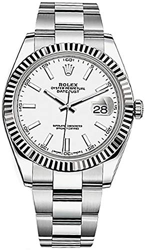 Rolex Datejust 41 White Dial Stainless Steel Men's Watch