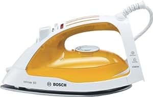 Bosch - Plancha Ropa Tda4610, **Suela Multidireccional**Palladium Glissee, 2200W, Vapor Constante 30Gr, Vapor Vertical, Antical, Autolimpieza Automat., Blanco-Amarillo