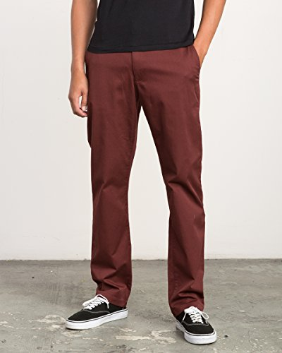 RVCA Men's Weekend Stretch Chino Pant, Bordeaux, (Stretch Weekend Chino Pants)