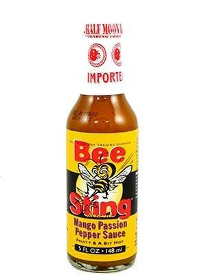Passion Fruit Hot Sauce - 3 BOTTLES! Bee Sting Mango Passion Hot Sauce, 5oz.