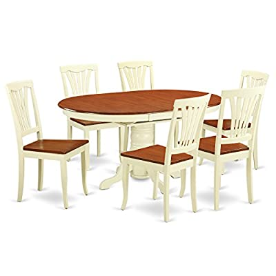 East West Furniture KEAV5-WHI-W 5-Piece Dining Table Set -  - kitchen-dining-room-furniture, kitchen-dining-room, dining-sets - 41OYfi9JfRL. SS400  -