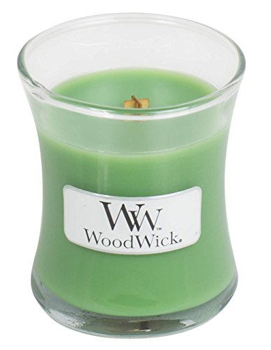 (WoodWick Line Basic Mini Wax Candle, Palm Leaf, Green, 7 x 7 x 8 cm)