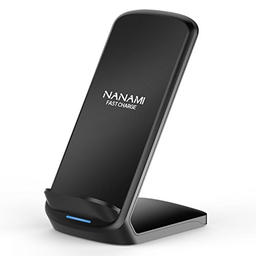 NANAMI 7.5W Wireless Charger Compatible iPhone X/XS/ XR/XS Max/8/8 Plus and 10W Fast Charger Compatible Samsung Galaxy S9 /S9+ /Note 9 /Note 8 /S8 /S8+ /S7 /S7 Edge Upgraded QI Wireless Charging Stand