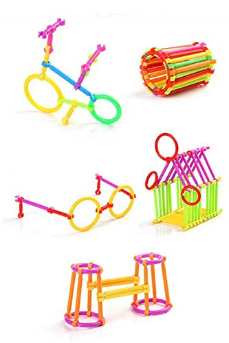 ArRord 205Pcs Bars Multiple Colors Shape Creative Toys Building Blocks 3D Puzzle For Child Boy Girl Gift by ArRord (Image #3)