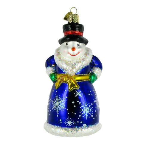 Snowman Old World Christmas Ornament (Old World Christmas Glistening Victorian Snowman Glass Ornament)