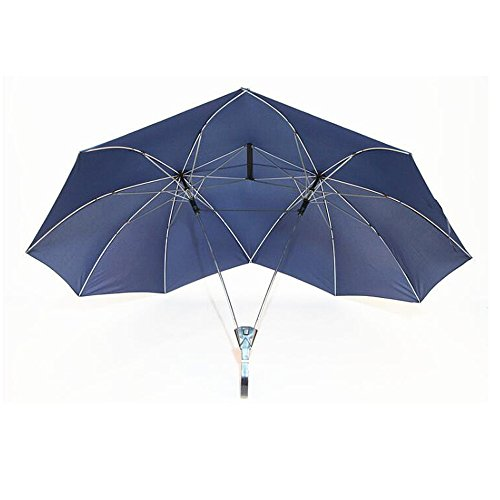 FY Double Size Tall Umbrella,Double Umbrella,Couple Umbrella, Two Person Umbrella,Umbralls for Baby,Gift for Lovers (Navyblue) by FY